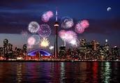 Fireworks in Canada