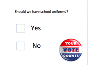 I am for the proposal of school uniforms.