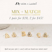 Then grab your Personalized Earrings, 2 for $45