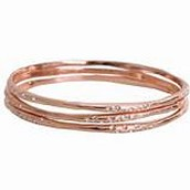 Rhea Bangles Rose Gold were £65 now £30