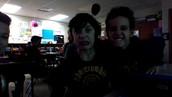"Martin & Matthew getting their ""Math Faces"" on"