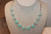 sommervell necklace, aqua and silver - $30