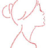 dibujo usando tipografia