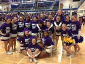 Cheer Showing Support Of Purple Out