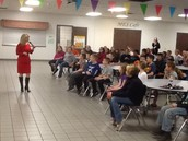 Channel 5 News Anchor Sheree Paolello visited and spoke to our 4th and 5th graders.