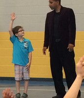 The kids LOVED the magic show and doves from David Casas! on Wednesday!