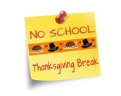 Monday, November 30, 2015 - Thanksgiving Holiday - No School