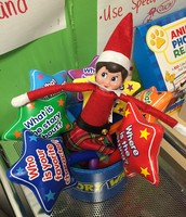 Elfie had some fun this week reading and using our story stars!