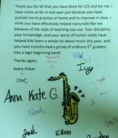5th Grade Letter