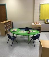 Bright Green Table, Shelf