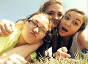 Savannah, Abby, and I
