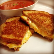 Main Dish-Grilled Cheese and Tomato Soup Combo