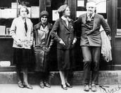 Sylvia Beach with the Hemmigways