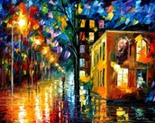 """ONLY LOVE — PALETTE KNIFE Oil Painting On Canvas By Leonid Afremov - Size 30""""x24"""""""