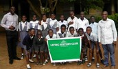 Living History Club members in Community High School, Samonda Ibadan
