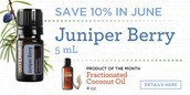 10% Off Juniper Berry and FREE Coconut Oil