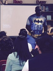 Poet Mike Gunn visits Hill Middle School