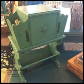 $145 - Copper Lined Green Chalk Paint Humidor