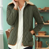 Multi-Quilt Jacket and Button Down Shirt