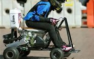 Racing Toliet on wheels