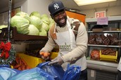 50 Cent with Feeding America