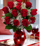 Roses are in high demand this time of year so they can be difficult to get and expensive.