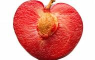 heart-shaped plum