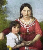 John Rolfe's and Pocahontas's son Thomas