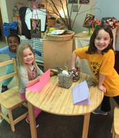 The girls' office for playing school