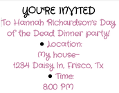 Back of Invite