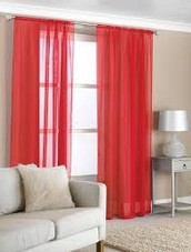 I will have a light red curtain so the sun can still brighten the room