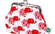 Red elephants clip purse