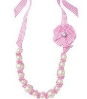 Allie Pearls & Ribbon Necklace with Removable Barrette