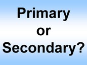 The difference between Primary and Secondary information.