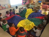 parachute time, always a favorite!