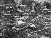 Dead Soldier at Little Round Top, Battle of Gettysburg, 1863 Photographic Prin