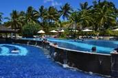 Tourists enjoying Vanuatu