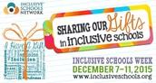 National Inclusive Schools Week: December 7-11, 2015