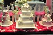Diamond Wedding cakes (hand made)