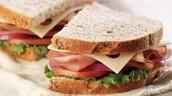 Swiss and rye bread Sandwich