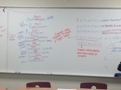 Students brainstorming a play in Physics.