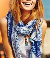 Capri Wrap Indigo Blue