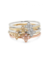 Moraley Flower Stackable Rings - Size 9