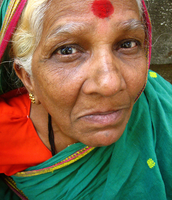 Elder women wearing a bindi