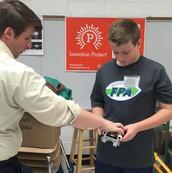 PRM Science Teacher Working with a Kinnelon Student
