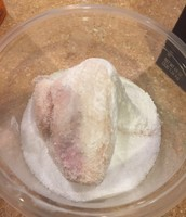 Before picture of the chicken wing we are mummifying in class!