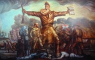 John Brown leading his troops