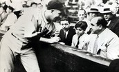 Capone with Son at Baseball Game