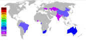 Percentage of manganese output by country