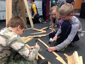 JCPRD kids building one of our holiday trees from scrap wood and nails!